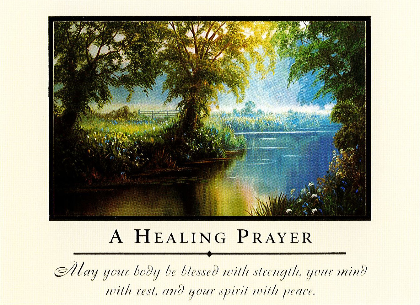 Mass Card A Healing Prayer