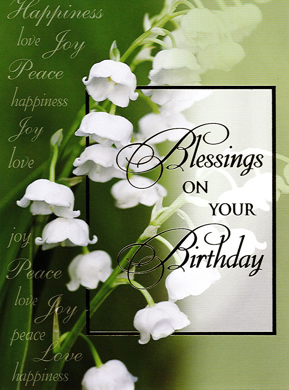 Mass Card Blessings On Your Birthday